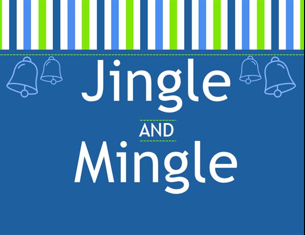 Uitnodiging voor een Jingle en Mingle-feest