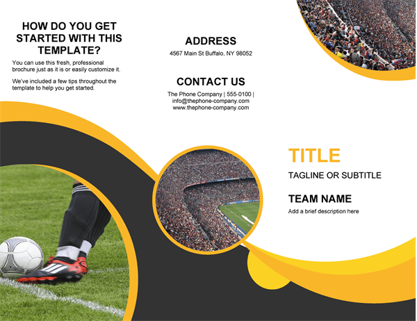sports brochure - Powerpoint Brochure Templates