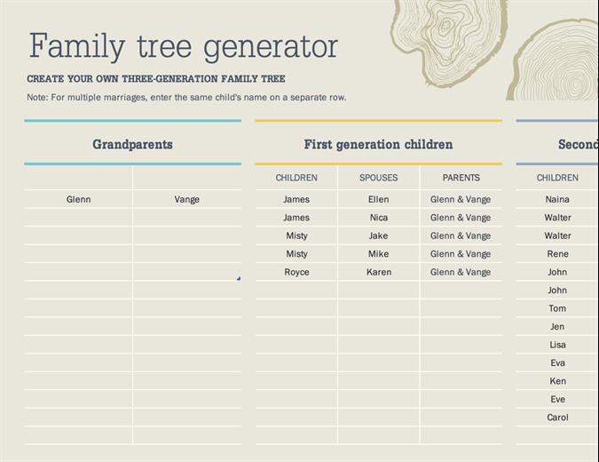 Family tree generator