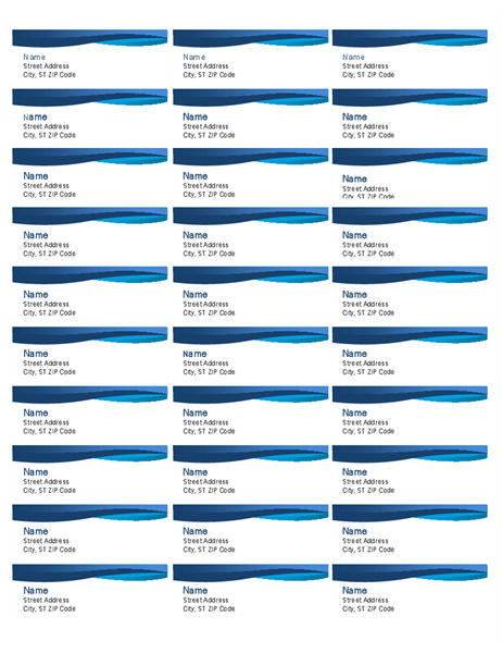 Blue curve labels (30 per page)