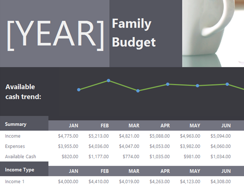 Simple Family budget