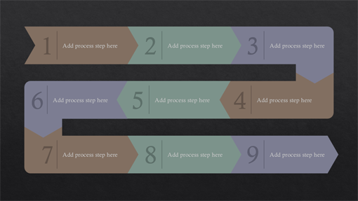 Process path infographic (Slate theme, widescreen)