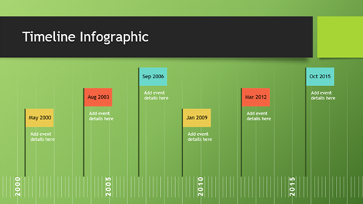 Timelines Officecom - Timeline graphic template