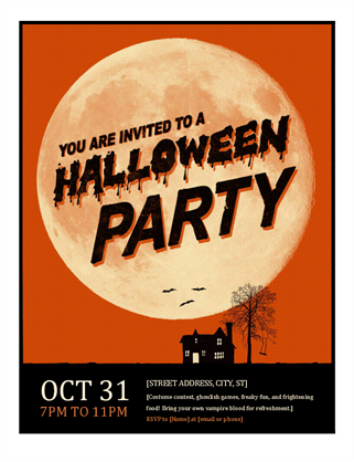 Event flyer office templates halloween flyer word saigontimesfo