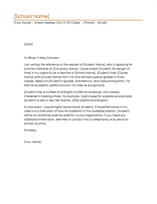letter of recommendation for student applying to graduate school letters office 19970