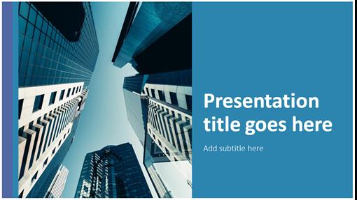 Classic bold block presentation