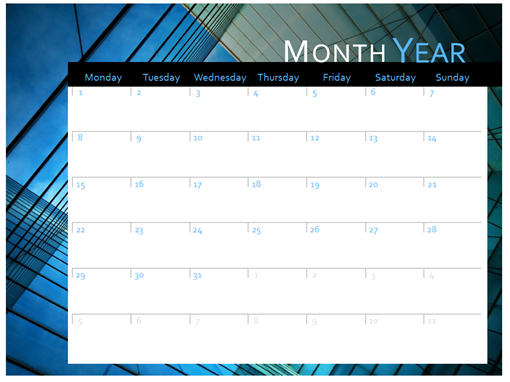 2017 calendar (Mon-Sun) - Office Templates