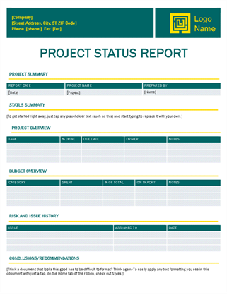 Project status report (Timeless design)