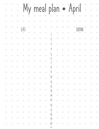 Meal planning journal