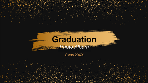 Dark graduation photo album