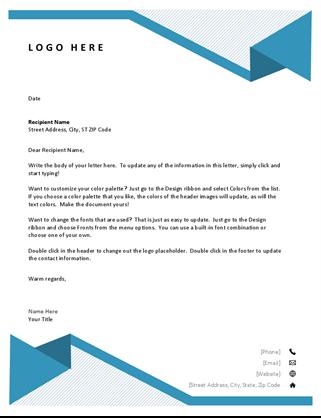 Pinstripes letterhead