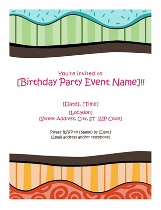 Birthday flyer (Bright design)