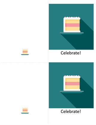 Cake celebration card