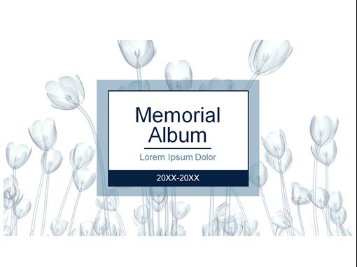 Floral memorial album