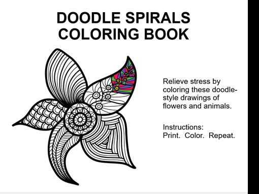 Doodle spirals coloring book