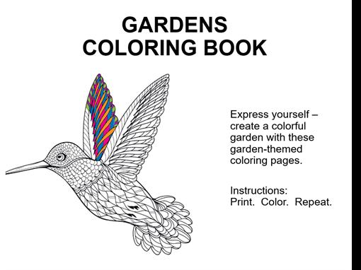 Gardens coloring book