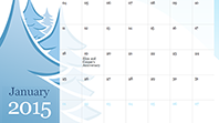 2015 illustrated seasonal calendar (Sun-Sat)