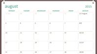 2015-2016 academic calendar (August-July)