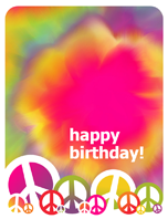 Birthday card (tie dye)