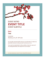 Spring flyer (flowering branch design)