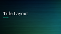 Green brushed metal presentation (widescreen)