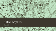 Business office city sketch presentation background (widescreen)