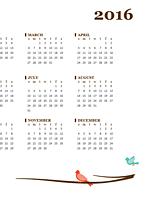 2016 calendar (Sun-Sat)