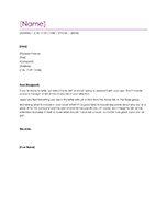resume cover letter violet - Templates For Cover Letters