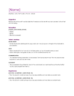 word word online template resume violet - Resume Templates In Microsoft Word