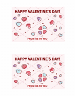 Valentine's Day postcards (2 per page)