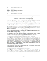 Memos Office – Confidential Memo Template