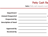 Petty cash request slip