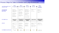 Process steps for sales to larger businesses