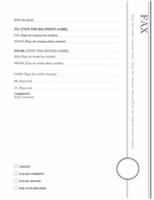 Fax cover (Oriel theme)