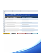 Word 2010: Menu to ribbon reference workbook