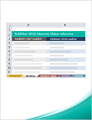 Publisher 2010: Menu to ribbon reference workbook