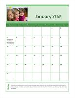 Family photo calendar (any year)