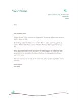 Personal letterhead