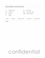 Fax cover sheet (Contemporary design)