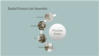 Process SmartArt with radial picture list (widescreen)