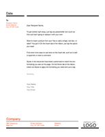Letterhead (Red and Black design)