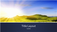 Blue banded nature presentation with mountain sunrise photo  (widescreen)