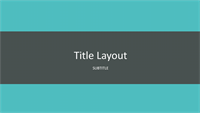 Teal banded presentation (widescreen)