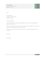 Business letter (Sales Stripes design)