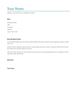Cover letter - Office Templates