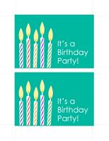 Birthday invitation postcards (2 per page)