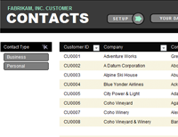 Customer contact list