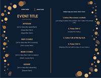 Menu (Elegant Party design, color)
