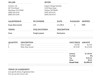 Commercial invoice (Basic)