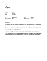 Fax cover sheet (informal)